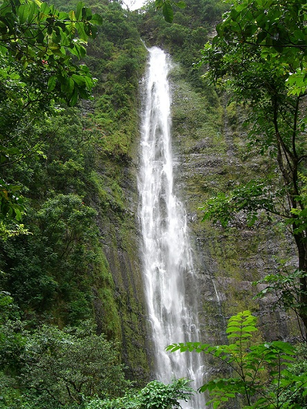 Waimoku-Falls along the Pipiwai Trail